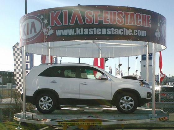 podium car display carousel